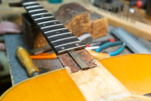 Repair Spotlight: Vintage Martin Headstock Repair