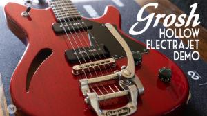 Don Grosh Guitars - Hollow ElectraJet - Aged Cherry