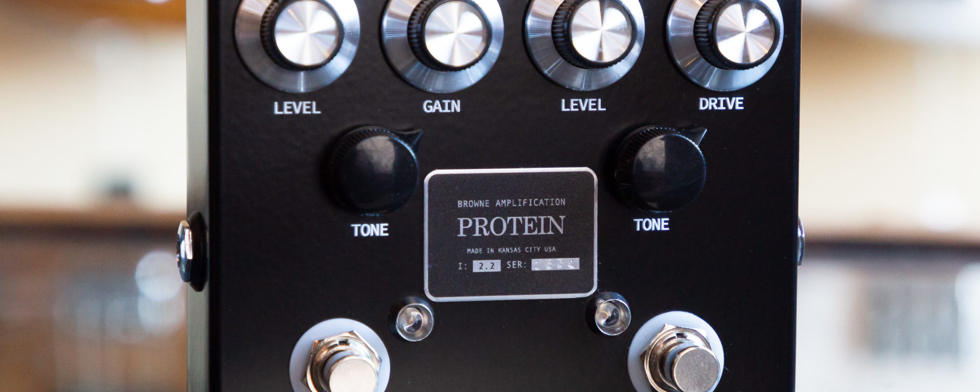 Browne Amplification - Protein Dual Overdrive - Black
